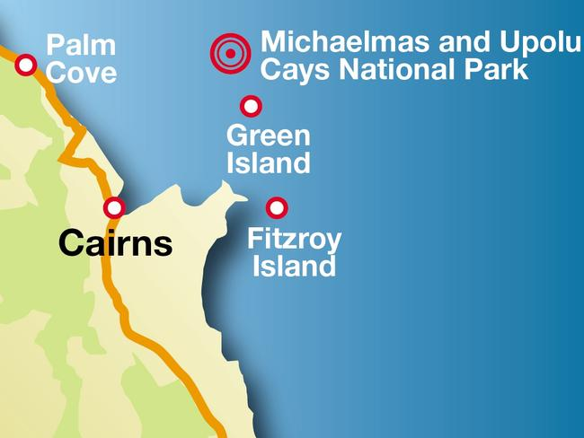 Two French tourists died at Michaelmas Cay this week.