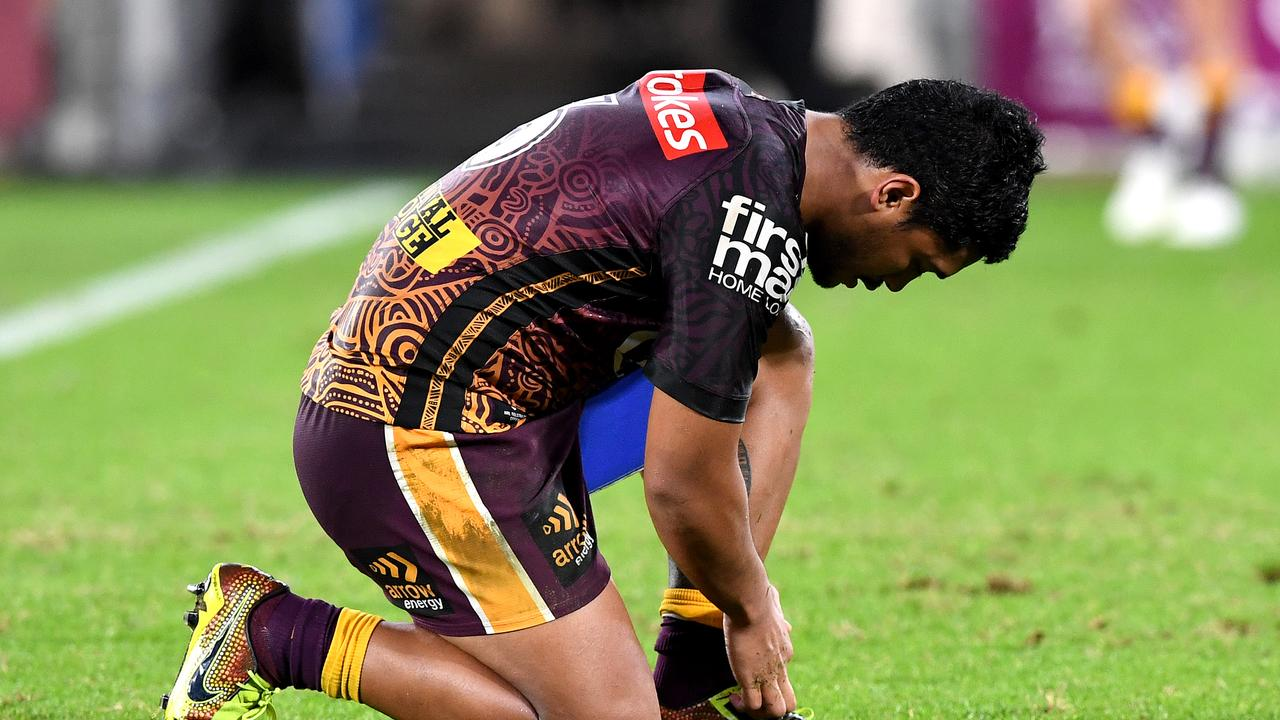 The Brisbane Broncos led by eight points with 10 minutes to go.