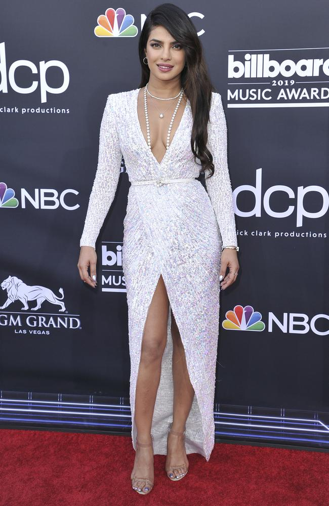 Priyanka Chopra arrives at the Billboard Music Awards on Wednesday, May 1, 2019, at the MGM Grand Garden Arena in Las Vegas. Picture: Richard Shotwell/Invision/AP