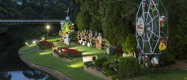 Part of the West End Brewery Christmas Riverbank Display at Thebarton. Picture: Peter Hoare