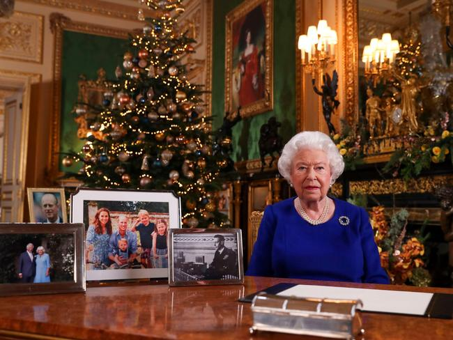 There was no sign of the Sussex family in the Queen's Christmas message. The couple also opted to spend their first Christmas with Archie in Canada. Picture: Steve Parsons / POOL / AFP.