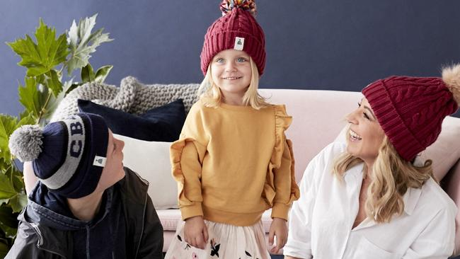 Carrie Bickmore with her kids Evie and Oliver. Picture: Supplied