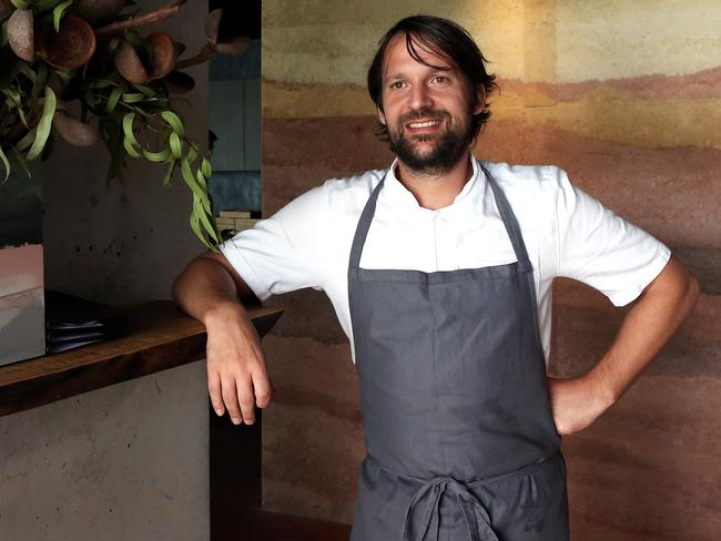 Noma's head chef Rene Redzepi in the kitchen at his pop up restaurant Noma in Barangaroo, Sydney.