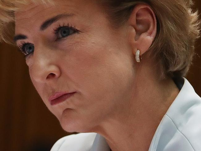 Senator Michaelia Cash appearing at Senate Estimates at Parliament House in Canberra. Picture Kym Smith