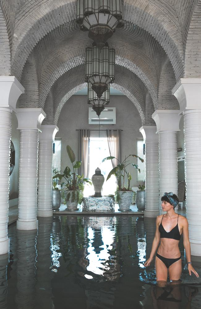 Her accommodation in Morocco was over-the-top opulent, and Sorelle enjoyed showing it off. Picture: Sorelle Amore