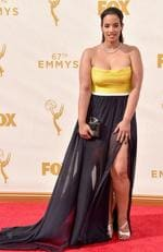Dascha Polanco attends the 67th Annual Primetime Emmy Awards in Los Angeles. Picture: Getty