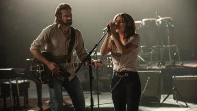 Lady Gaga and Bradley Cooper star in A Star Is Born. Source: Supplied.