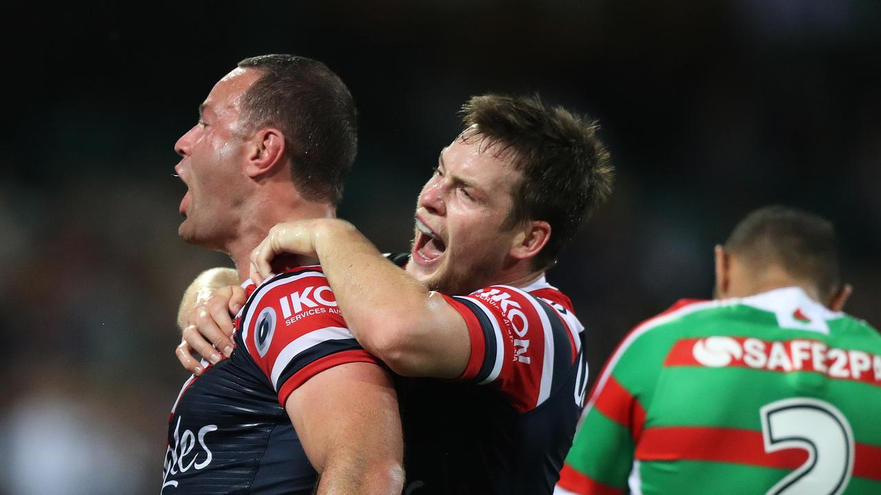 Luke Keary has pulled off a stunning performance to get the Roosters to the preliminary finals. Picture: Brett Costello