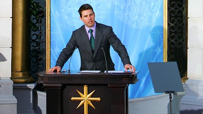 Hollywood actor Tom Cruise is the unofficial face of Scientology.