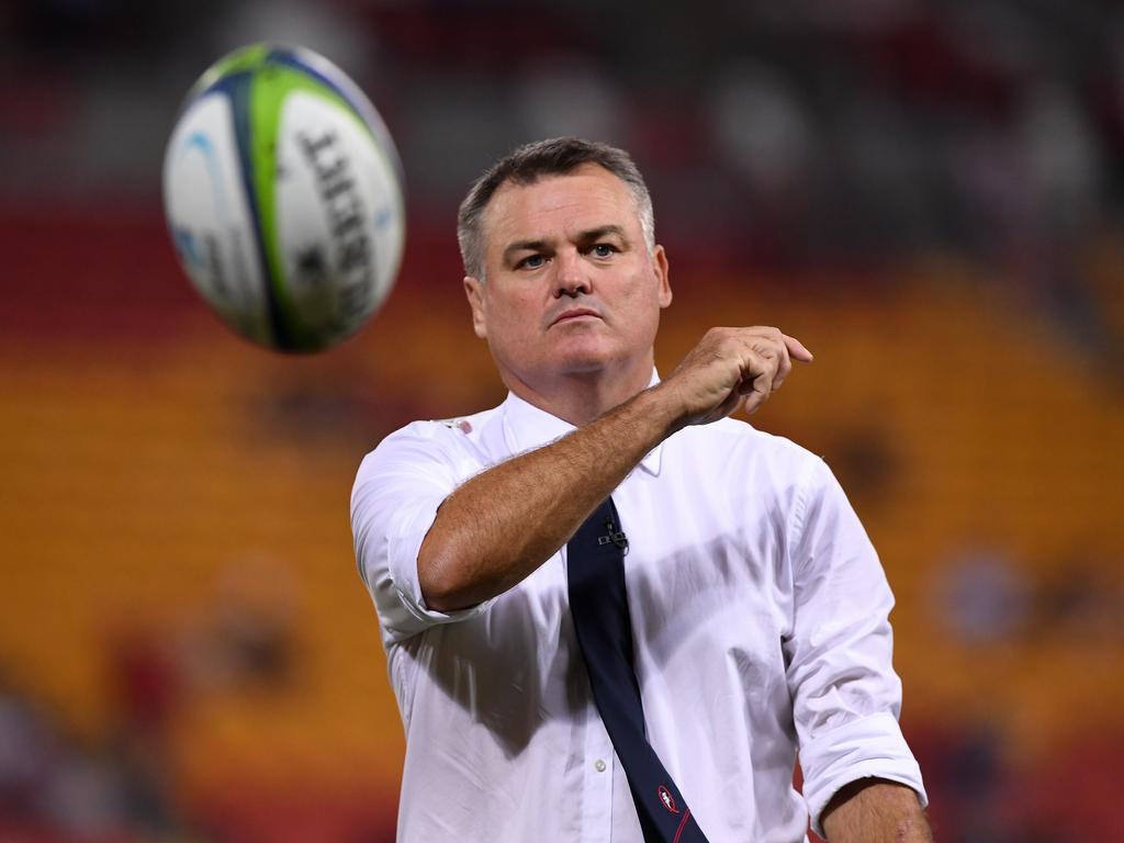 Reds coach Nick Stiles during the 3rd round Super Rugby match between the Queensland Reds and the Canterbury Crusaders at Suncorp Stadium in Brisbane, Saturday, Mar. 11, 2017. (AAP Image/Dave Hunt) NO ARCHIVING, EDITORIAL USE ONLY