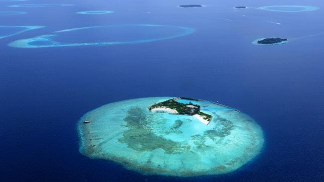 Data shows that Pacific islands and the Maldives, above, are growing rather than being inundated. Picture: iStock