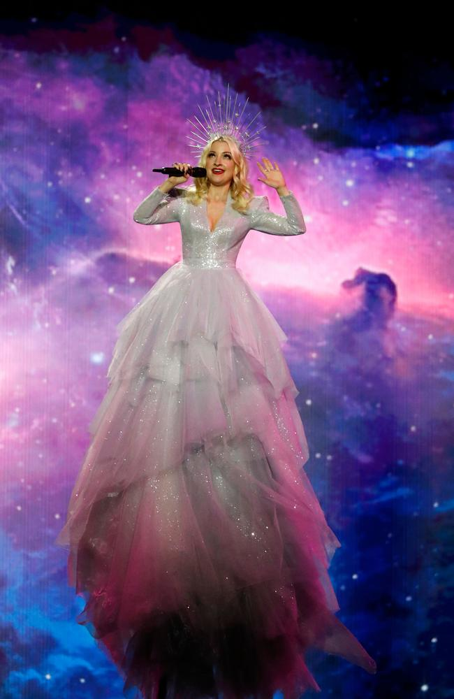 Purple reign! The Eurovision final is on Sunday morning Australian-time. Picture: AFP