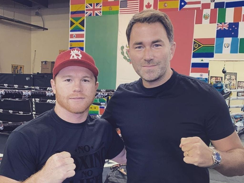 Canelo Alvarez with Eddie Hearn.