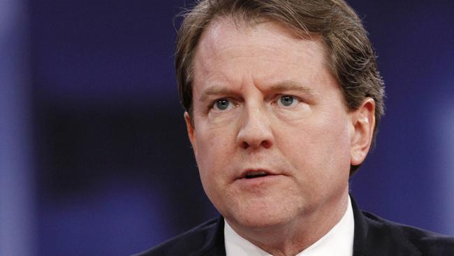 Former White House lawyer Don McGahn had a fiery dispute with Donald Trump. Picture: Jacquelyn Martin/AP