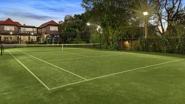 The tennis court is understood to be among the biggest in the inner west.