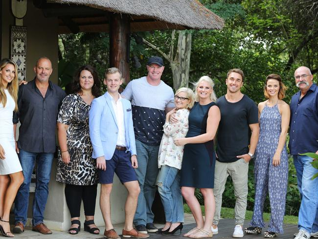 Original cast ... I'm A Celebrity ... Get Me Out Of Here! cast (from left) Laura Dundovic, Andrew Daddo, Chrissie Swan, Joel Creasey, Barry Hall, Maureen McCormick, Leisel Jones, Tyson Mayr, Lauren Brandt and Merv Hughes. Picture: Nigel Wright for Channel 10