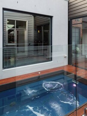 The plunge pool.