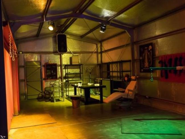 Dungeon ... 'the Reformatory' near Brisbane is orgy and swinger friendly. Picture: www.kinkbnb.com