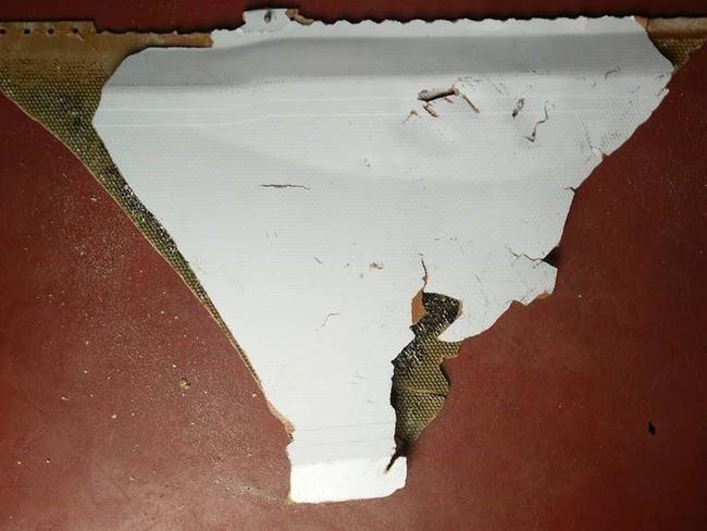 The object believed to be part of the debris of MH370. Picture: Supplied