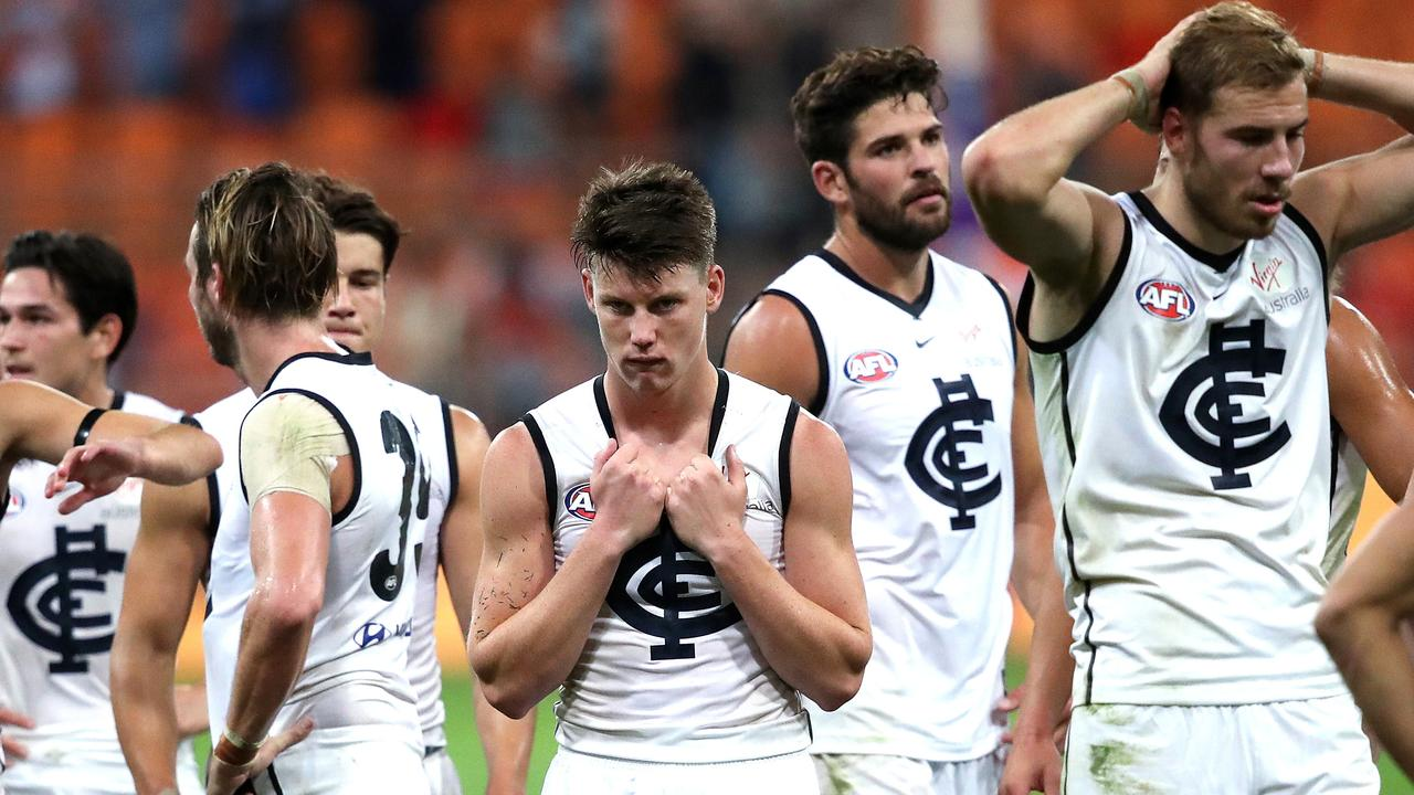 Carlton are struggling. Picture. Phil Hillyard