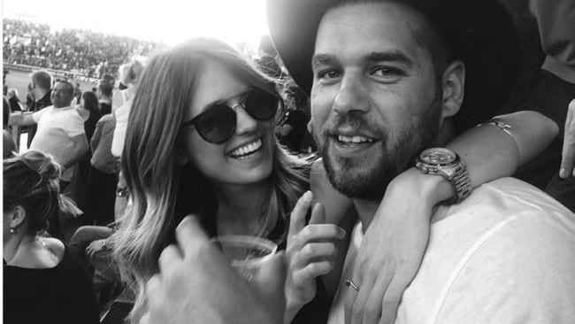 Jesinta Campbell and Buddy Franklin ... Picture: Jesinta Campbell/Instagram