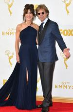 Felicity Huffman and William H. Macy attend the 67th Annual Primetime Emmy Awards in Los Angeles. Picture: AP