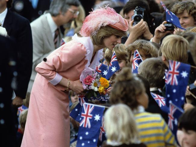Princess Diana greeted by the public on March 25, 1983 in Canberra. Picture: Anwar Hussein/Getty Images