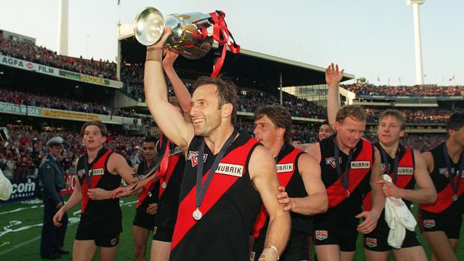 Tim Watson with the 1993 AFL Premiership cup.