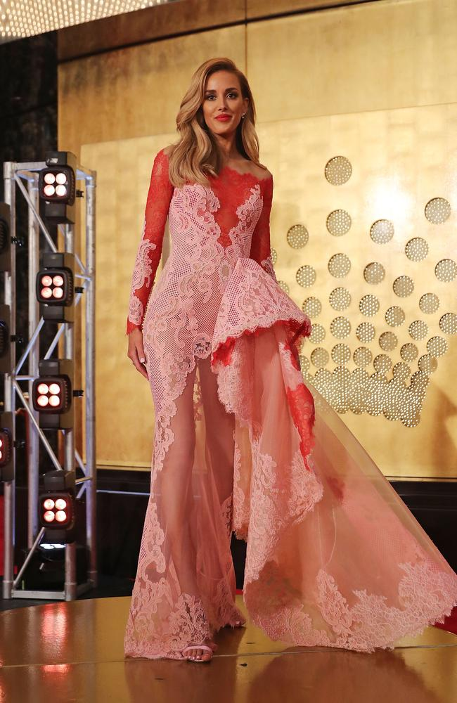 Rebecca Judd arrives at the 59th Annual Logie Awards at Crown Palladium. Picture: Getty