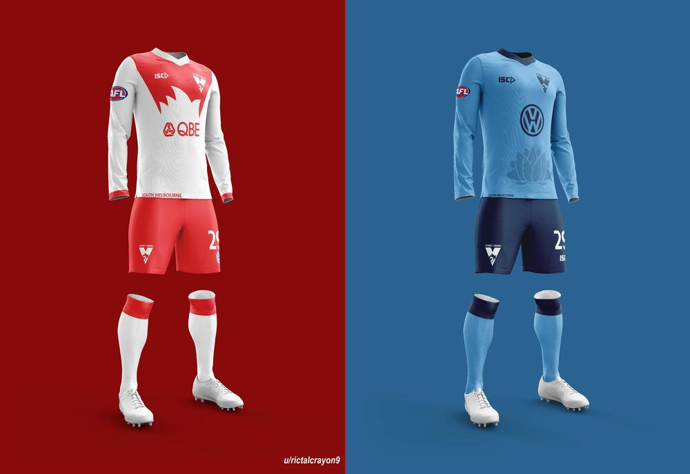 Sydney's home and away/clash jerseys.