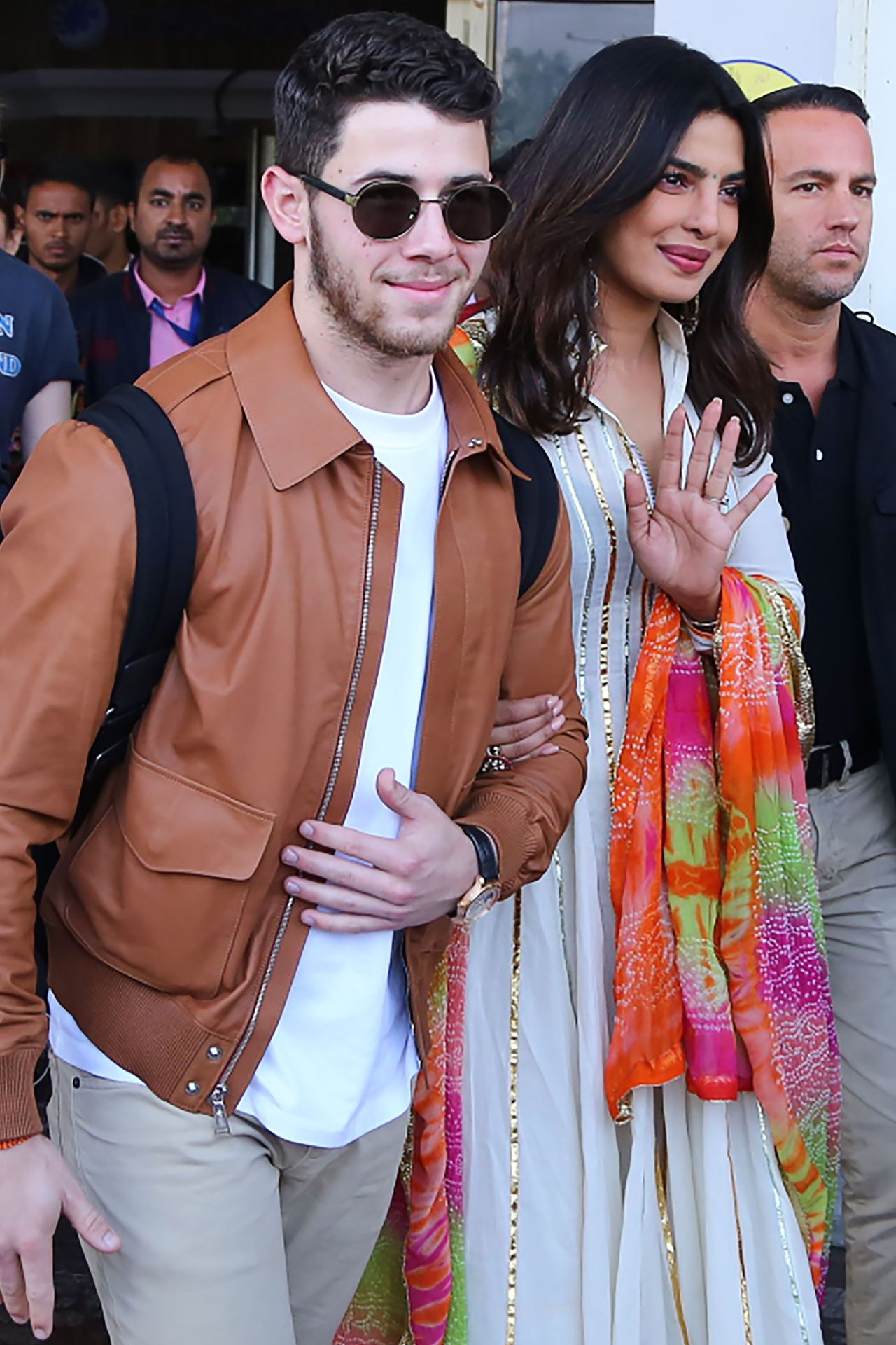 Nick Jonas and Priyanka Chopra arriving in Jodhpur for the range of traditional Indian wedding ceremonies to come. Image credit: AFP