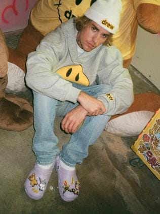 Bieber and his Crocs... Picture: Ryan Good for Crocs