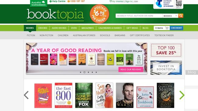 Today, one item is sold every 6.1 seconds at Booktopia. Picture: Supplied