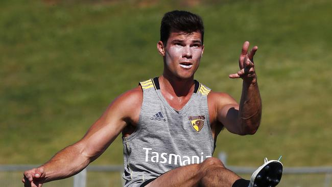 Jaeger O'Meara starred in Hawthorn's intra-club match. Picture: Michael Klein
