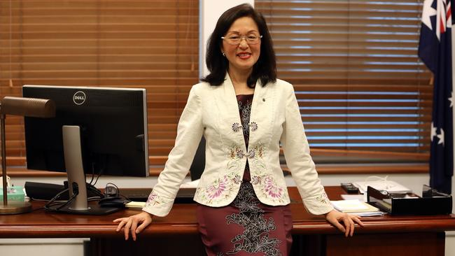 Gladys Liu in her office at Parliament House in Canberra. Picture: Kym Smith