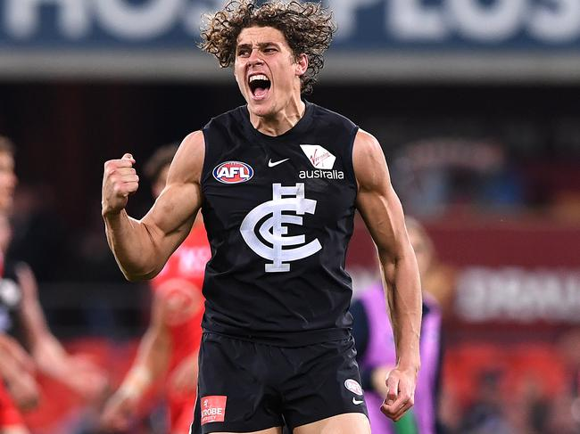 Charlie Curnow has been kicking goals.