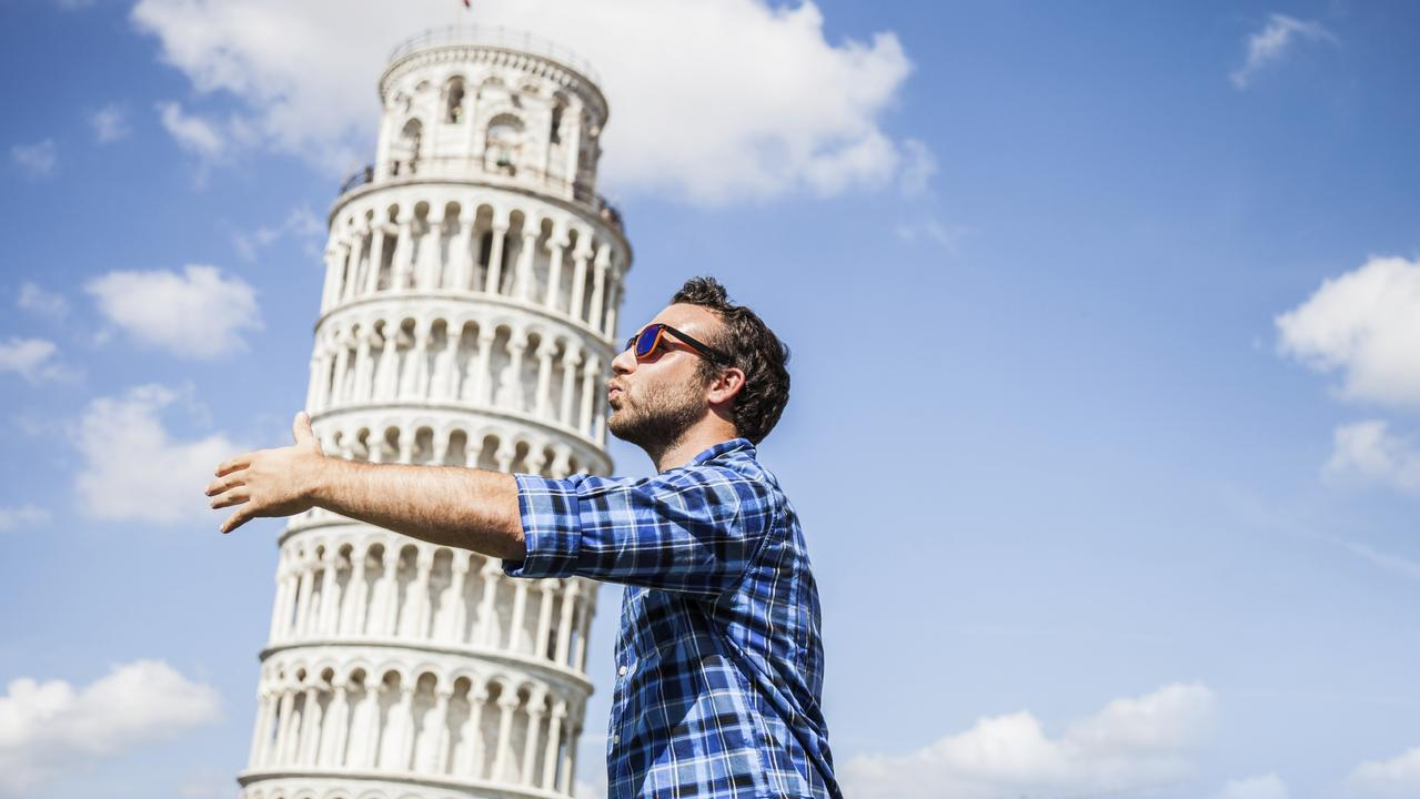 A popular way for tourists to photograph the Leaning Tower of Pisa. Picture: iStock
