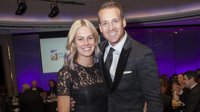 Anna and Jules Lund at the Father Bob Maguire Gala Dinner last year. Picture: Tameika Brumby.