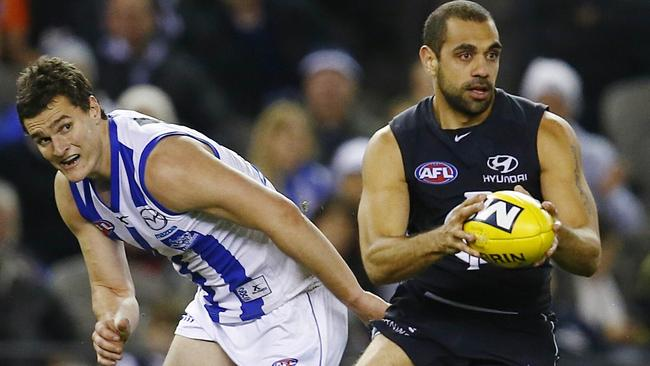 Chris Yarran was one of Carlton best in the victory. Picture: Michael Klein