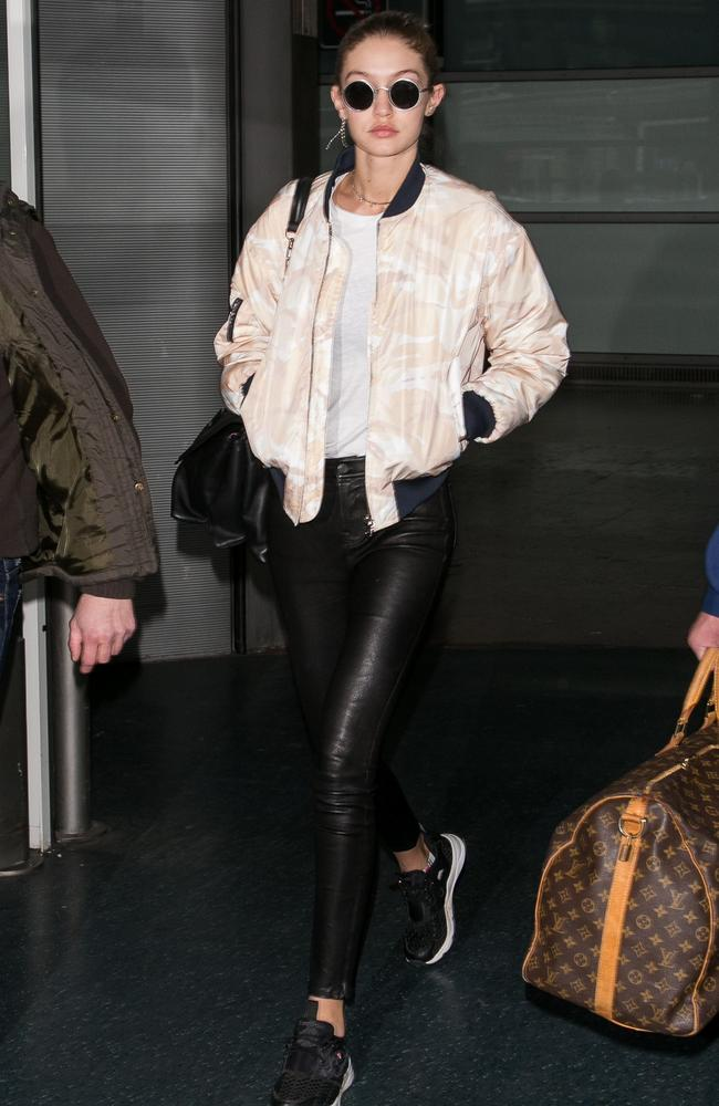 Gigi Hadid, who will walk for Victoria's Secret for the second time, was one of the first models to arrive in Paris. Picture: Paul Hubble/GC Images