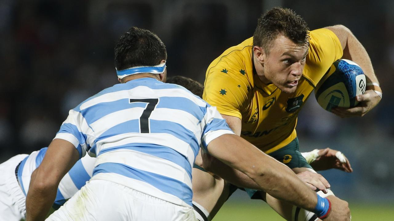 Jack Dempsey in action for Australia against Argentina in Mendoza in 2017.