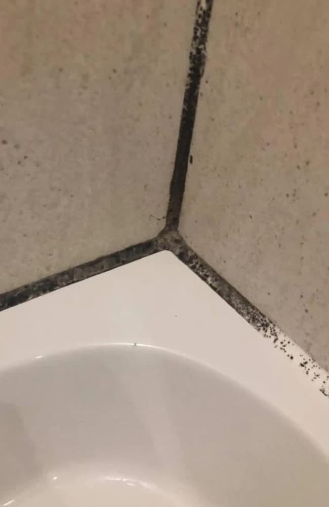 Another woman recently shared an image of black mould in her bathtub. Picture: Facebook