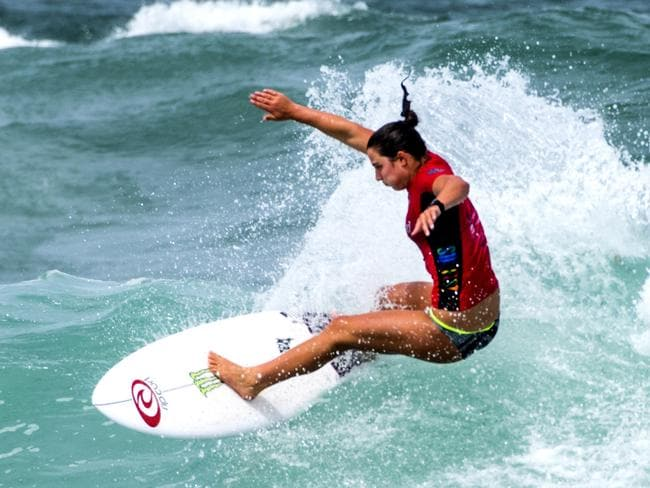 Tyler Wright surfing ahead of the 2018 season where she will chase her third world crown.