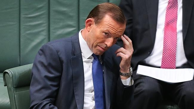 Prime Minister Tony Abbott in Question Time today.