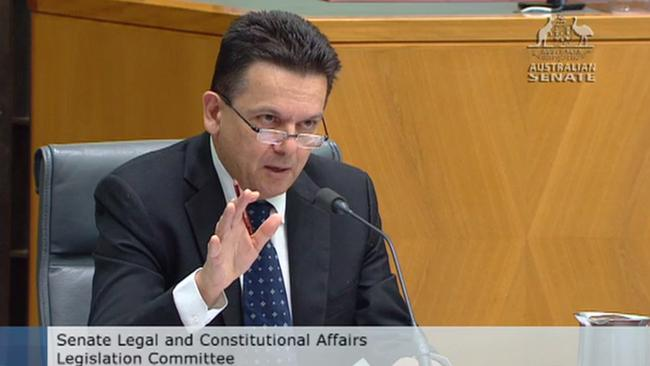 Senator Nick Xenophon put questions about internal investigations into whistleblowers to AFP Commissioner Andrew Colvin in Senate Estimates.