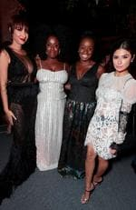 9066049bh - Netflix Primetime Emmys Party, Los Angeles, CA, America - 17 September 2017 Pictured: Jackie Cruz, Uzo Aduba, guest and Diane Guerrero hang out at the Netflix Primetime Emmys Party. Picture: Shutterstock / Splash News