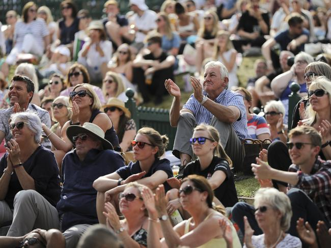 The large crowd that gathered to watch Konta on the big screen at Wimbledon left disappointed.