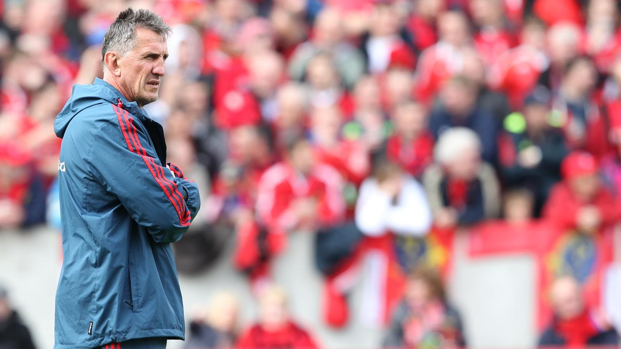 Rob Penney working as Munster coach at Thomond Park in 2014.