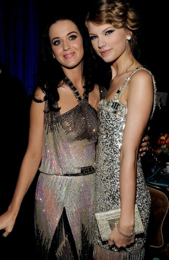 Taylor Swift and Katy Perry's feud was made apparent in Swift's hit song Bad Blood. Picture: Getty Images