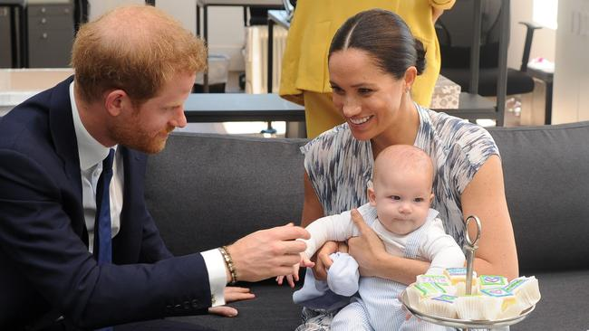Archie stole the show when he appeared on the royal tour. Picture: HENK KRUGER/POOL/AFP